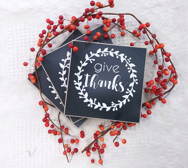 give thanks fall sign, wooden sign thanksgiving decor