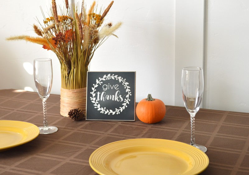 give thanks thanksgiving centerpiece decor for fall