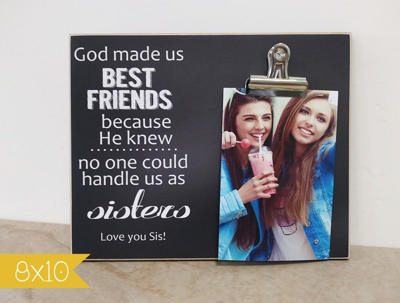 god made us best friends, best friend photo frame, gift for best friends, best friends gift, besties gift, picture frame, custom gift, custom photo frame, personalized gift frame,