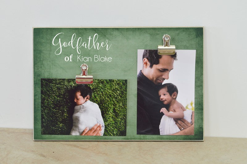 personalized godfather photo frame gift for godfather, baptism gift, christening gift