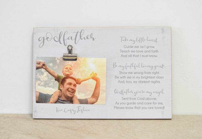 Godfather Poem Photo Frame, Christening Thank You Gift