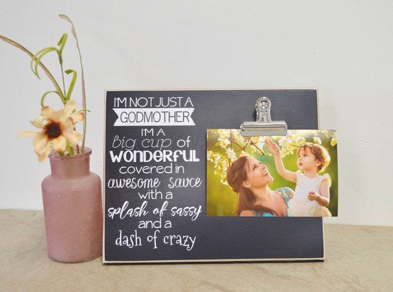 not just a godmother photo frame, godmother gift