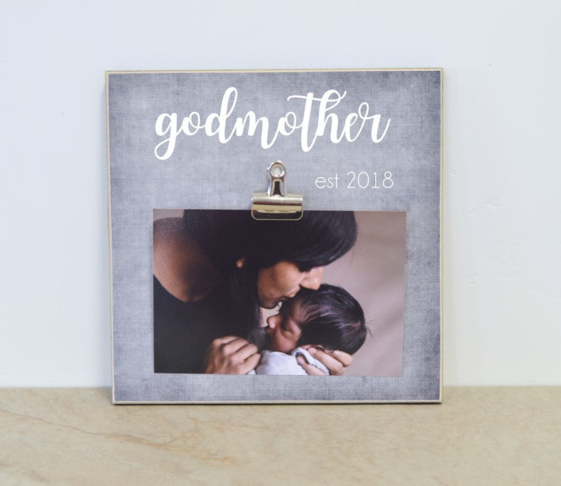 godmother photo frame baptism gift for godpaents