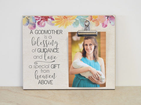 a godmother is a blessing, godmother proposal, christening gift, gift for godmother, godmother gift, gift for christening, baptism gift, gift for baptism, photo frame, picture frame, godparent gift, gift for godparent