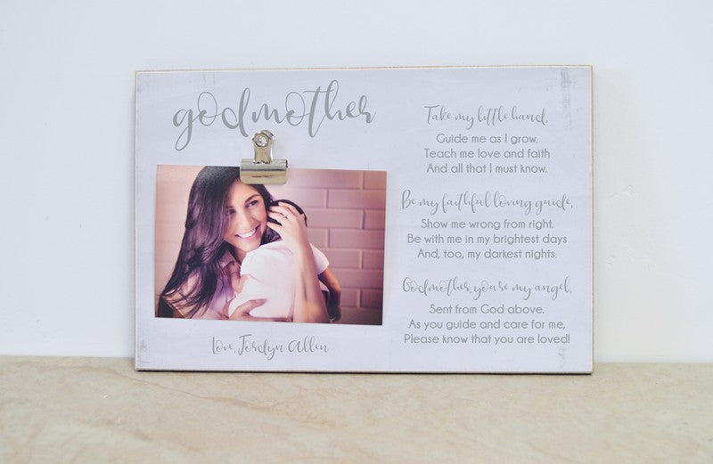 godchild photo frame, gift for godmother, christening gift baptism gift