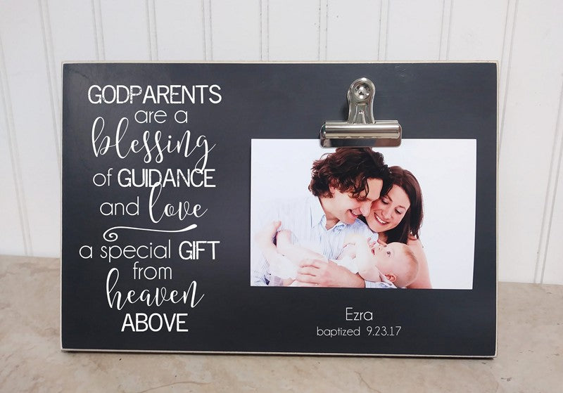 godparents are a blessing photo frame