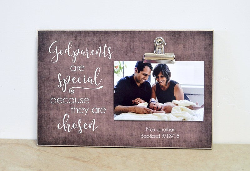 godparent proposal, custom picture frame for godparents, godparents are special because they are chosen