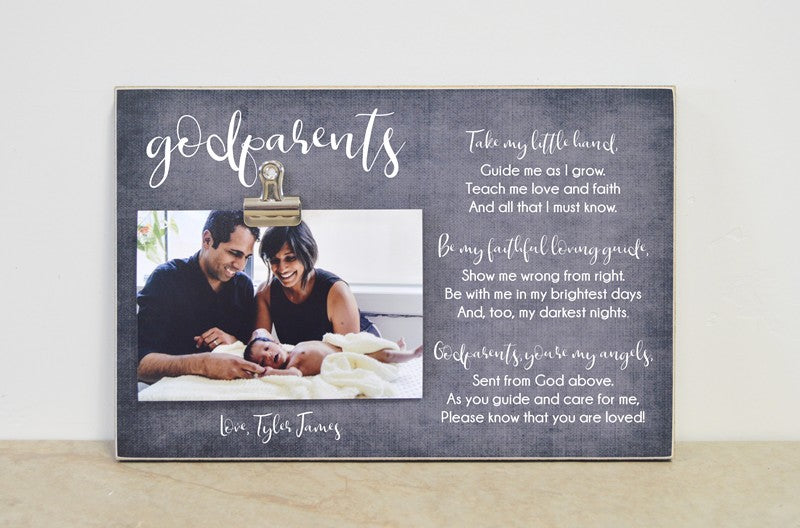 godparent photo frame gift for godparents
