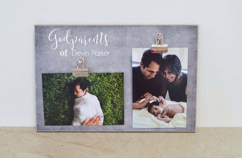 godparent photo frame christening gift for godparents t