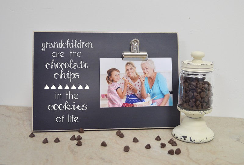 grandchildren are the chocolate chips in the cookies of life photo frame gift for grandparents