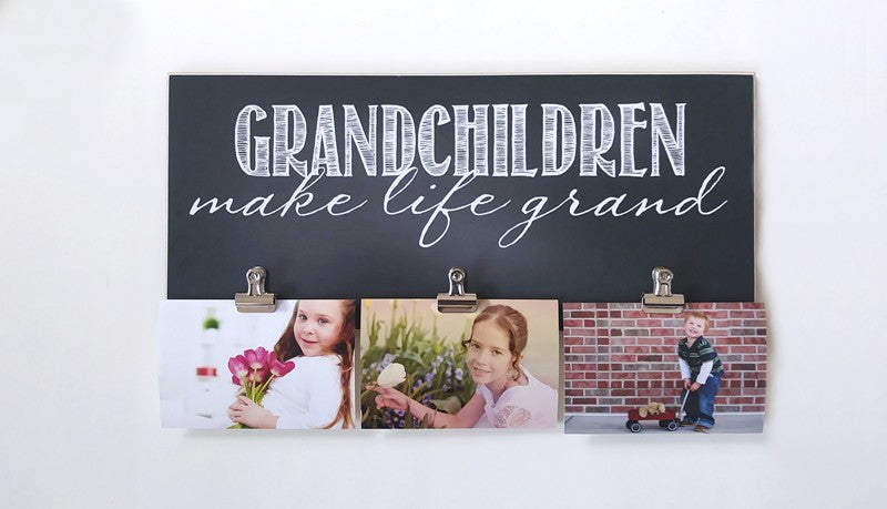 grandchildren make life grand photo display frame gift for grandparents picture frame
