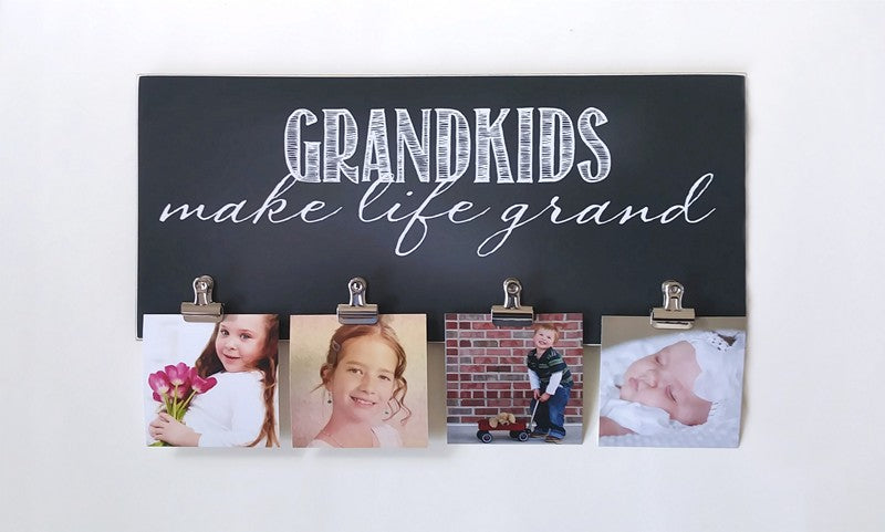 grandkids make life grand photo display gift for grandparents, grandparents day gift, christmas gift, mothers day gift, fathers day gift