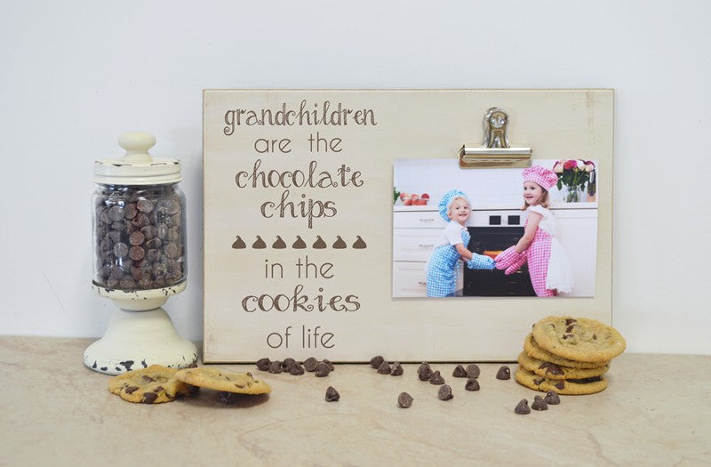 farmhouse photo frame cookies of life, grandchildren photo frame chocolate chips
