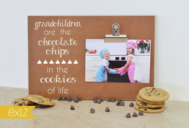 grandchildren photo frame, chocolate chips in the cookies of life