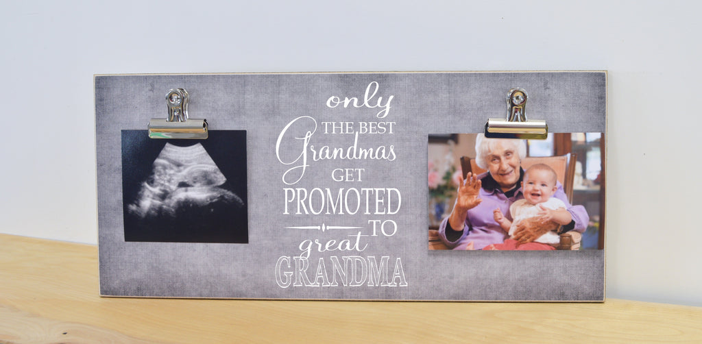 only the best grandmas get promoted to great grandma, custom picture frame for grandma