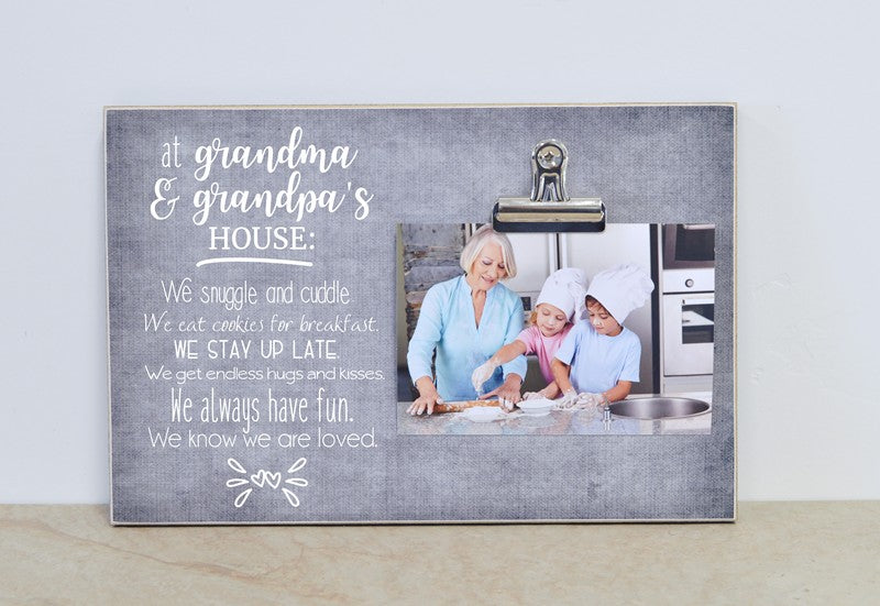 grandma and grandpas house photo frame, gift for grandparents day gift