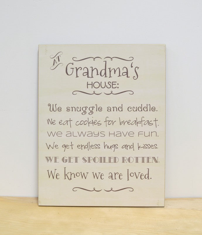 At Grandmas House Wooden Sign Dandelion Wishes