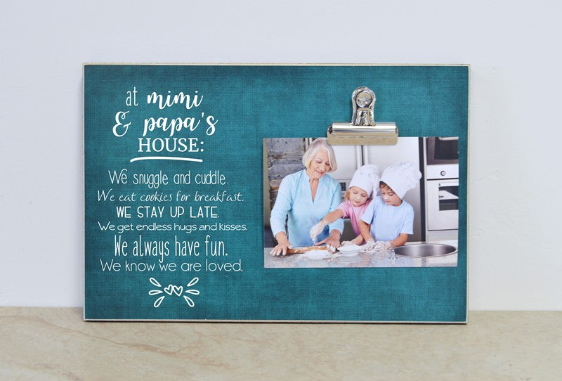 mimi and papa photo frame, gift for mimi and papa, father's day gift, mother's day gift, grandparent photo frame