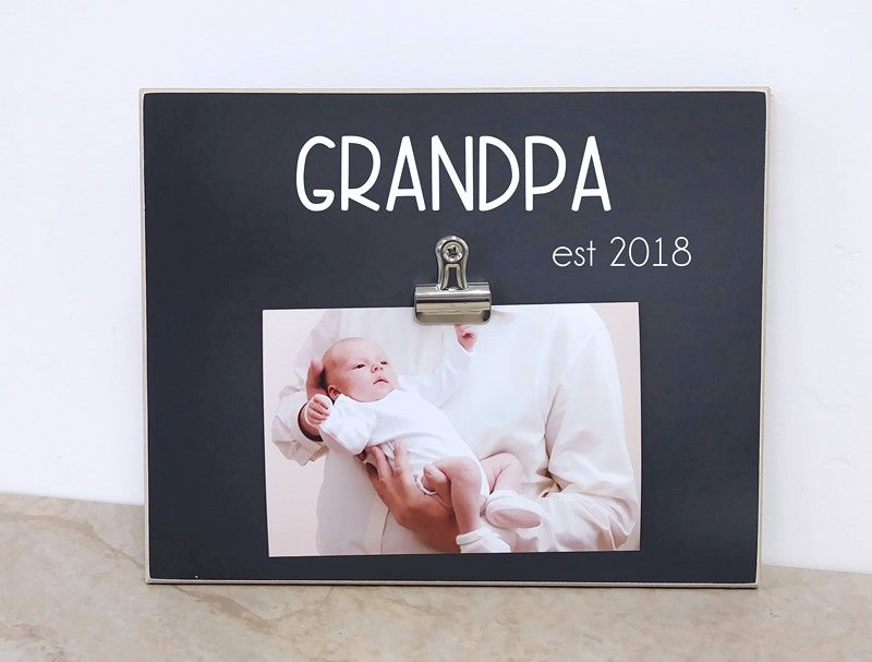 pregnancy announcement to new grandpa, personalized photo frame, fathers day gift