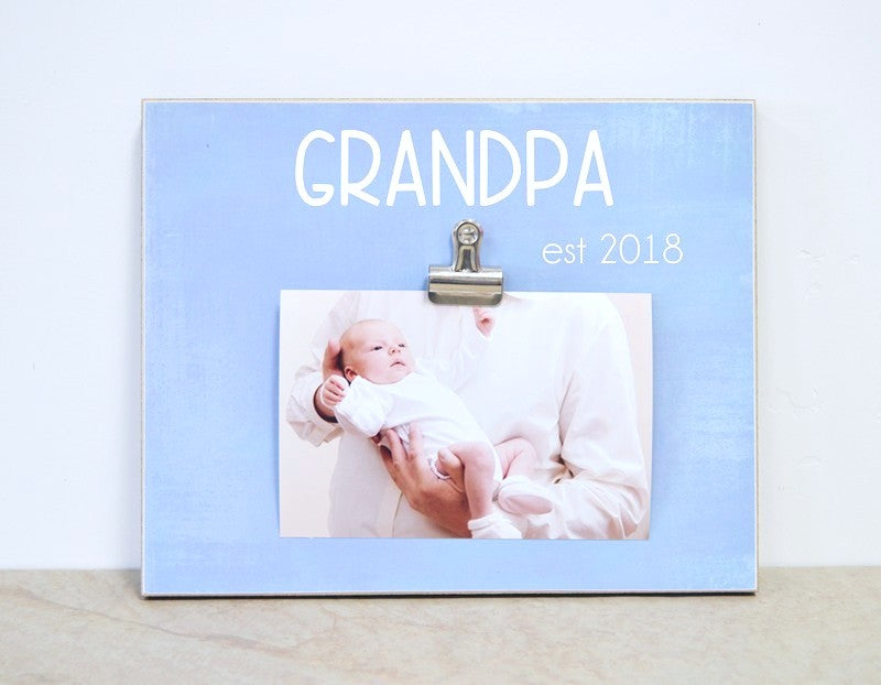 personalized picture frame for grandpa, custom father's day gift idea