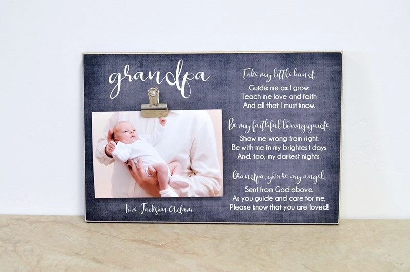 grandpa photo frame gift for grandpa, custom picture frame fathers day gift