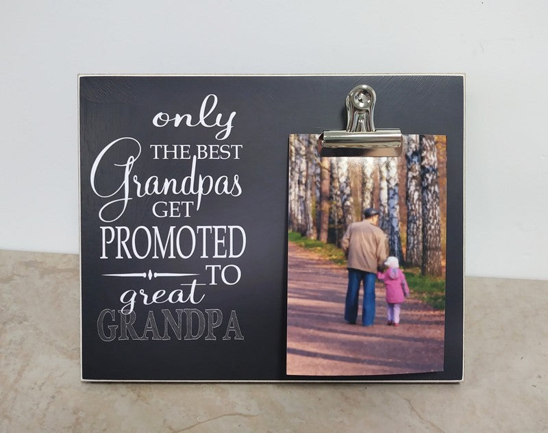 grandpa promoted frame, gift for Grandpa, father's day gift idea