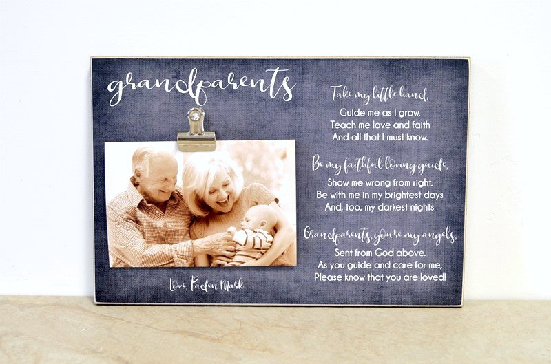 grandparents poem photo frame gift for grandparents day. personalized gift