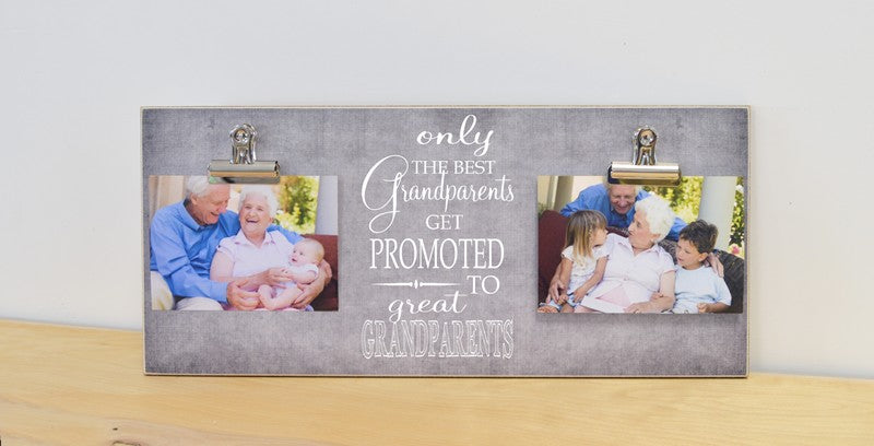 only the best grandparents get promoted to great grandparents custom photo frame pregnancy announcement to grandparents