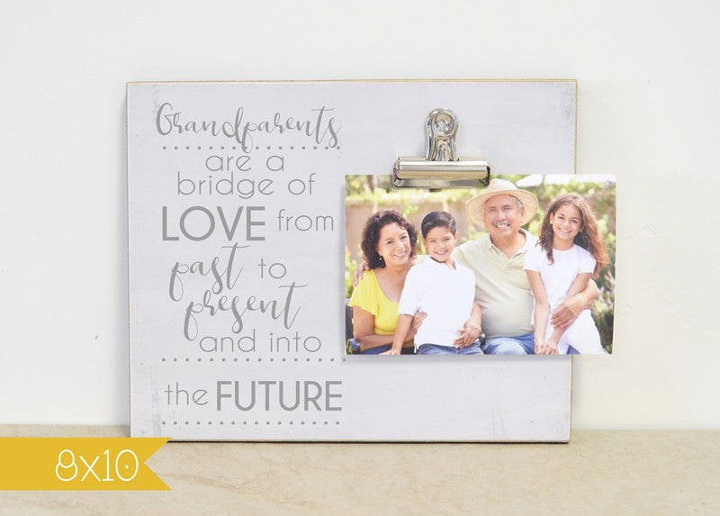 farmhouse photo frame for grandparents, grandparents day gift, grandparents are a bridge of love