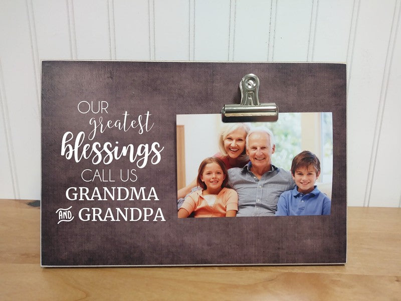 Personalized Gift Grandparent Picture Frame Gift For Grandparents  {Our Greatest Blessings...}  Custom Photo Frame Grandparent/'s Day Gift