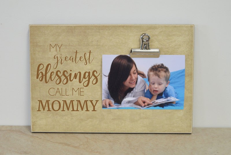 personalized mothers day gift for mom, my greatest blessings call me mommy
