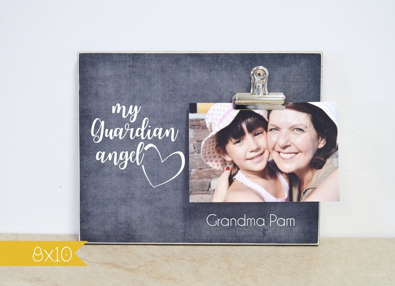 my guardian angel sympathy photo frame, memorial gift, celebration of life decor