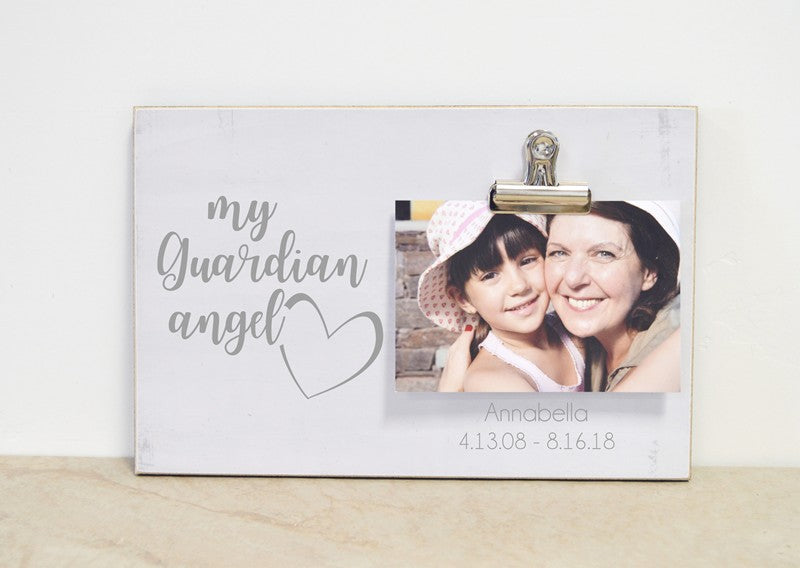 farmhouse photo frame memorial frame, my guardian angel