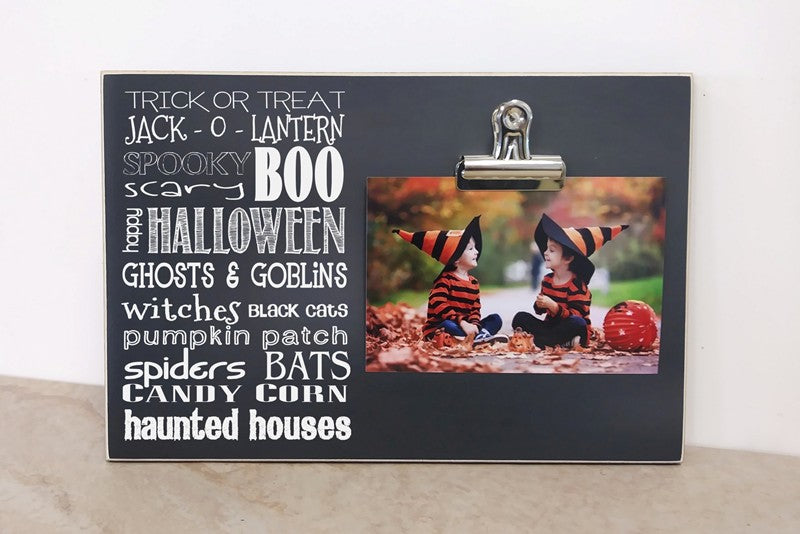 Halloween Subway Art Photo Clip Frame