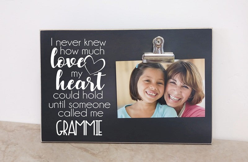 personalized grandma photo frame i never knew how much love my heart could hold