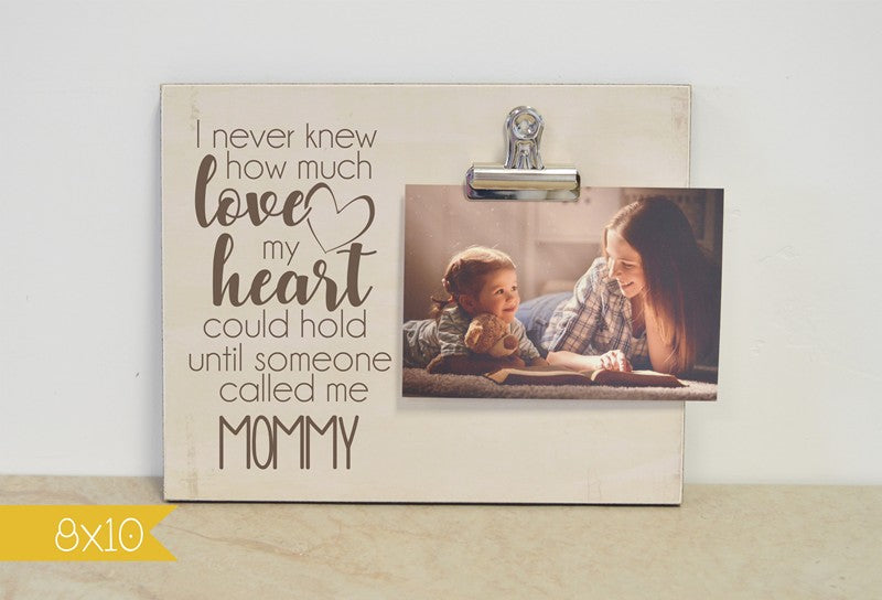 personalized mothers day gift for mom, i never knew how much love my heart could hold