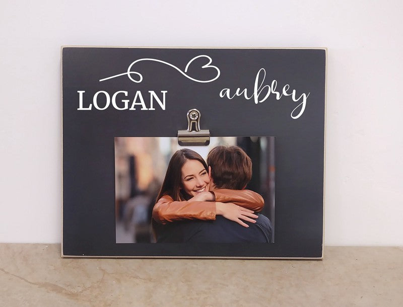 personalized gift for couple, wedding gift idea, couples photo frame with names