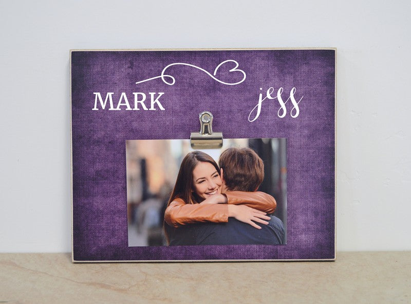 personalized photo frame gift from dandelion wishes, custom gift personalized with names,