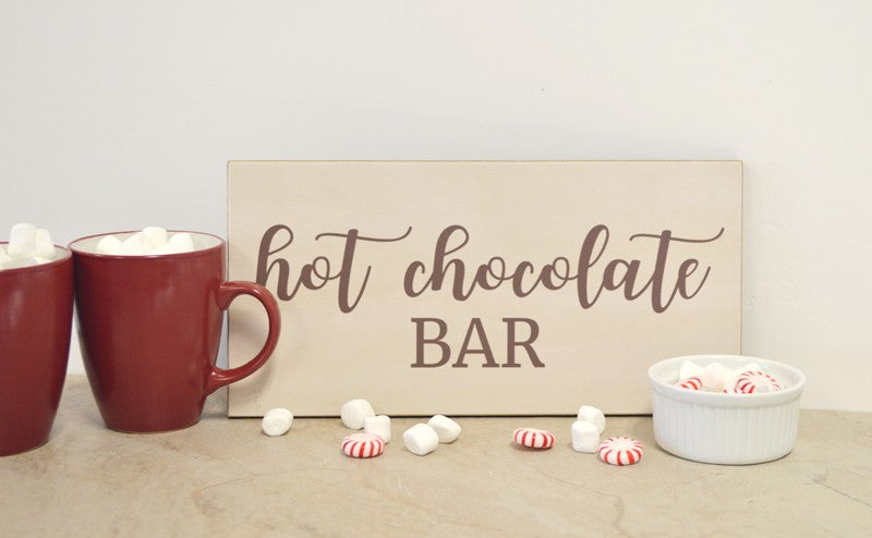 farmhouse hot chocolate  bar sign for farmhouse wedding, party, bridal shower, baby shower christmas