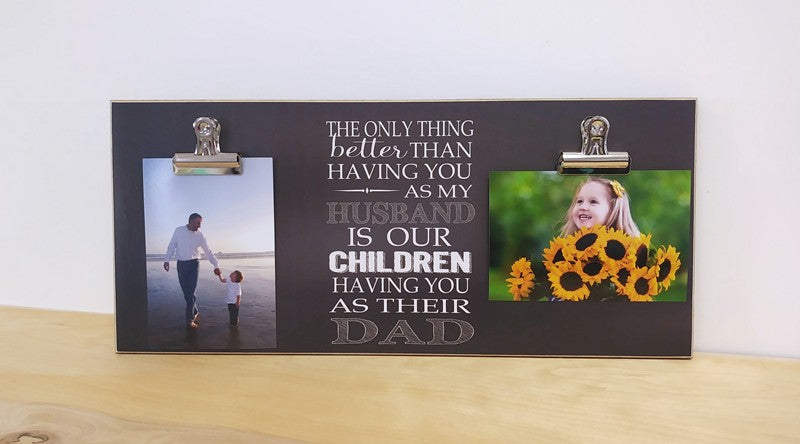 chalkboard photo frame gift for dad, husband picture frame, gift for husband