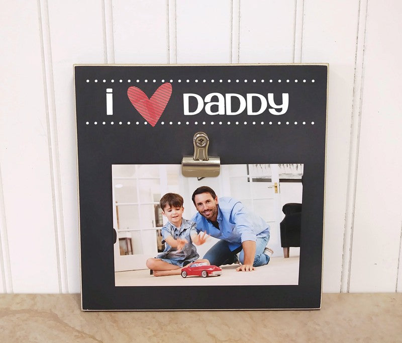 i heart daddy photo clip frame fathers day gift for dad