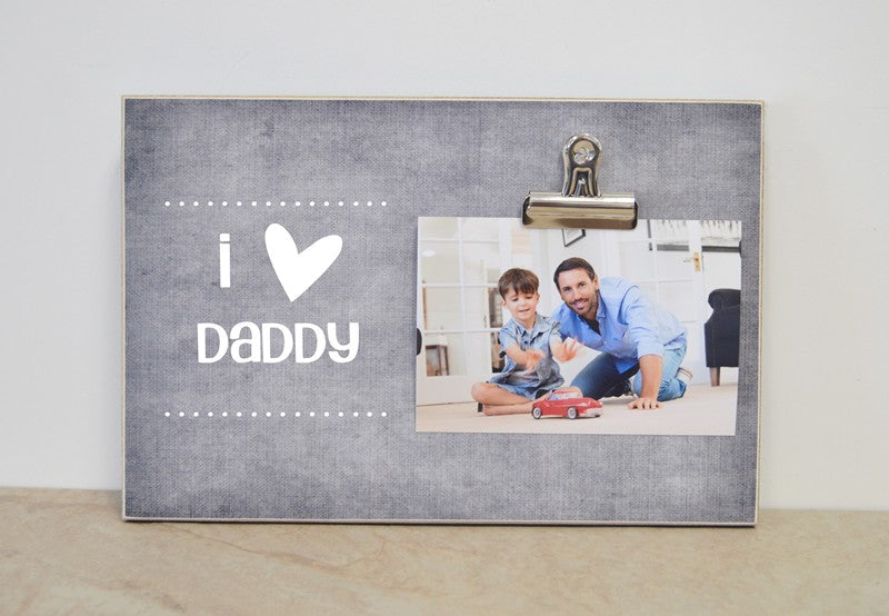 I Love Grandpa Custom Picture Frame
