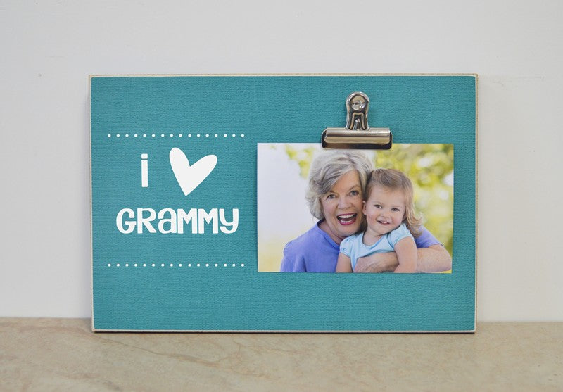 i love grammy photo clip frame gift for grammy, mother's day gift