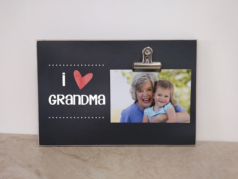 I Love Grandma Custom Picture Frame