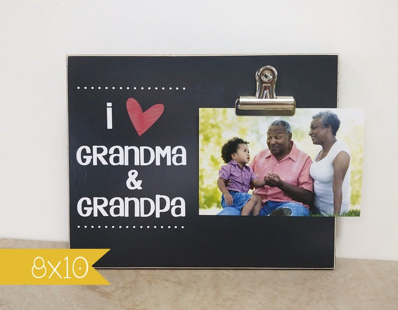 I love grandma and grandpa frame