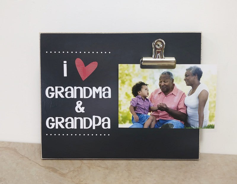 i love grandma and grandpa photo clip frame grandparents day gift for grandma and grandpa