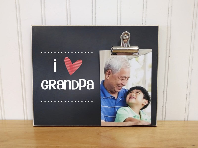 I Love Grandpa Photo Clip Frame Fathers Day Gift Dandelion Wishes