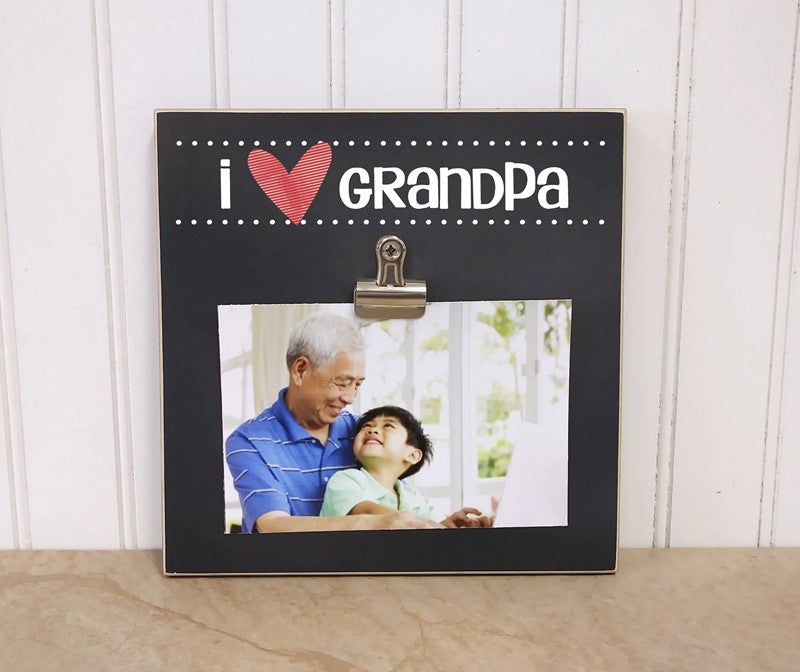 i love grandpa photo frame gift