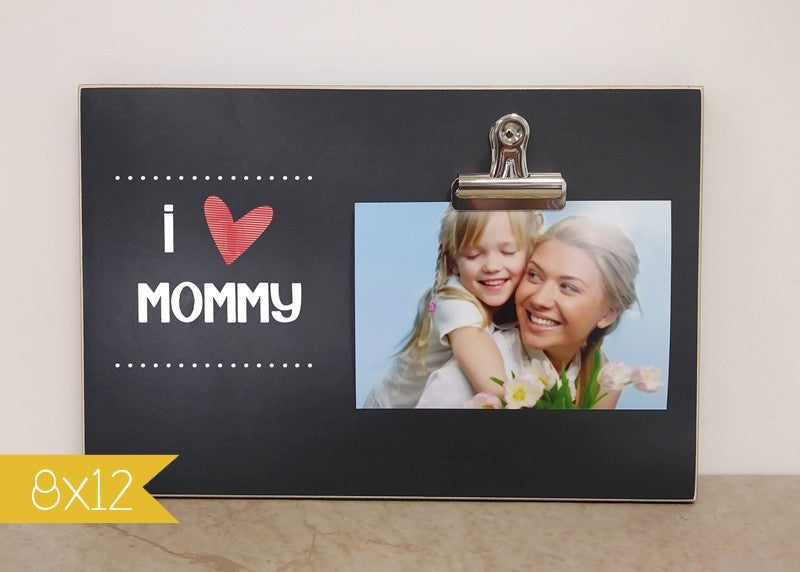 I Love Mommy Photo Clip Frame Mothers Day Gift Dandelion Wishes