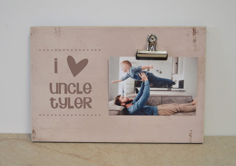 personalized uncle gift, i love uncle photo frame